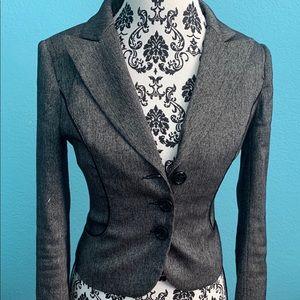 Bebe size 6 dark grey blazer